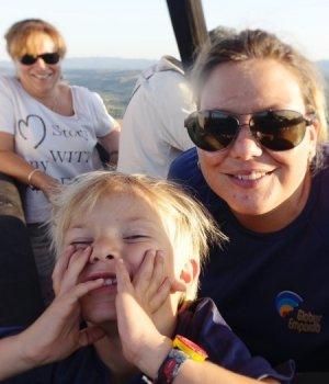 Vol en globus Familiar (2 adults i 1 nen)