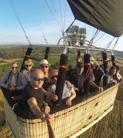 Vol en globus a Figueres